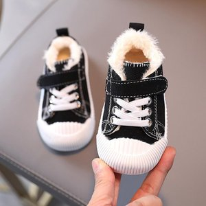 Toddler Boy Walking Shoes Winter Thicken Velvet Warm Newborn Shoes Soft Bottom Breathable Brand Infant Kids Casual Baby Sneakers