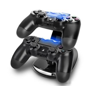 Dual جديد وصول LED USB Chargedock Docking Cradle Station Station For Wireless Sony PlayStation 4 PS4 لعبة تحكم شاحن