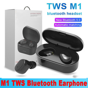 M1 TWS Bluetooth Earphones Wireless 5.0 Stero Earbuds Intelligent Noise Cancelling Portable Headphones For Smart Cellphone with Retail Box