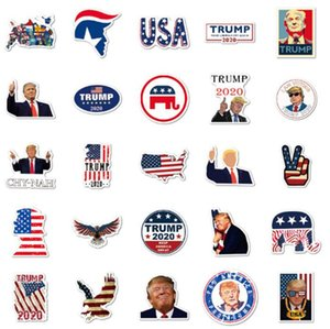 50 PCS Trump 2020 Stickers US President Donald American Flag Stickers for Hydroflask Water Bottle Waterproof Laptop Notebook