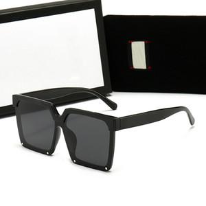 2021 Diseñador Square Gafas de sol Hombres Mujeres Sombras Vintage Conducción Polarizado Sunglass Masculino Gafas de sol Moda Tablón de metal Gafas de sol Gafas