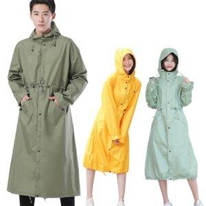 Largas impermeables mujeres hombres impermeables, al aire libre lluvia ponchos abrigo chaquetas chubasqueros impermeables muyer tamaño grande 201201