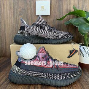 KANYE WEST CINDER YESHAYA NOIR STATIQUE Statique Running Shoes de course Mens Femmes Femme Gid Glow Zebra Blanc Citrin Comfort Sneakers 36-48