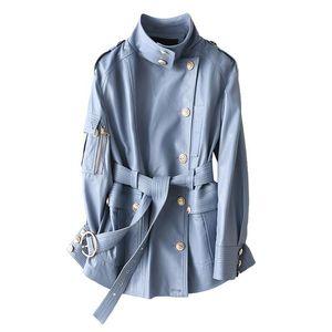 TYCYEK 100% Giacca in vera pelle Giacca da donna Montone Giacca da montone Real Sheepskin Coat Femminile Inverno Autunno Slim Slim Long Outwear Vestiti 3493