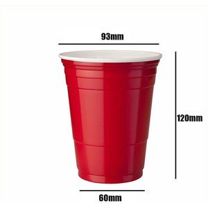 10pcs Set Party Cup Bar Restaurante Suministros de restaurantes Artículos para el hogar para suministros para el hogar 450 ml Taza de plástico desechable roja F BBYPBQ