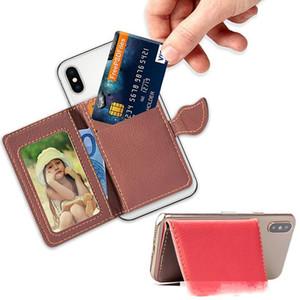 Leaf Universal Flip Back Wallet Cash Cash Card Card Slot 3M Sticker Leather Stick on Case for iPhone Samsung S10 S9 Leaf Huawei Xiaomi Nokia