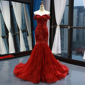 Dark Red Lace Mermaid Gothic Wedding Dresses Off the Shoulder Beaded Lace Corset Back Non White Non Traditional Bridal Gowns