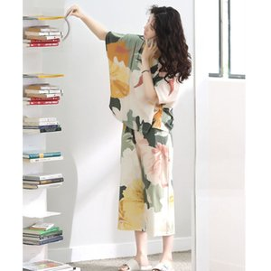 Pure Cotton Pajamas for Women Summer Short Sleeve Loose Women Pajamas Set Dropshipping Q1201