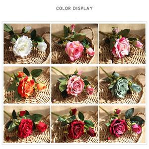Artificial Rose Flannelette Fake Simulation Flower Wedding Ceremony Home Furnishing Decoration Festive Party Supplies Silk Flowers 3 2yn bb