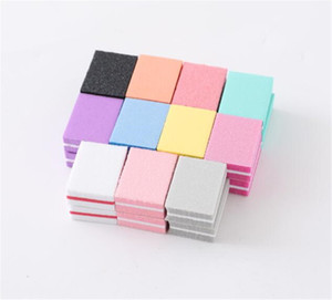 New Health Mini Sponge Nail File Candy Colors Color Sanding Buffer Block Block Archivos de uñas Doble Side Manicure Makeup Herramientas