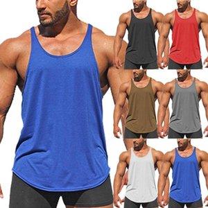Gym Men Muscle Run Sleeveless Shirt Tank Top Bodybuilding Sport Fitness Workout Vest Fitness Men