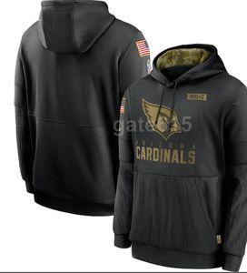 2020 Mens Arizona Sweatshirt NY Hoody 2020 Salute to Service Sideline Therma Performance Pullover Hoodies S-4XL
