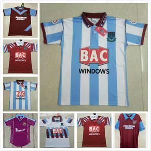 Retro jersey 91 92 95 97 West Centenary Retro years Cole DI CANIO Lampard Dicks 1999 00 jersey camiseta 100 th Retro 99 00 Home Ham