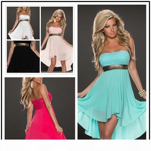 Hot new Sexy Strapless Backless Chiffon Dresses Sexy Women Summer Party Evening Cocktail dress free shipping