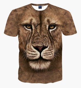 New Fashion Brand T-shirt MenWomen Summer 3d Tshirt Print Yin and Yang Lion T Shirt Tops Tees 2020