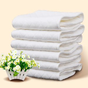 Top Top Reusable 2020 baby Diapers Cloth Diaper Inserts 1 piece 3 Layer Insert 100% Cotton Washable babies care Eco-friendly diaper 10pcs