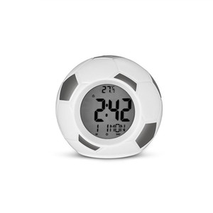 Model Alarm Clock Digital Temperature Display Home Decor Home Child Alarm Clock Kids LED Display Football