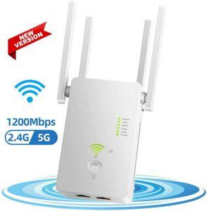 Wi-Fi Repealer Range Удлинитель беспроводной сигнал Усилитель усилителя Двойной диапазон 1200 Мбит / с