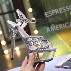 Voesnees crystal sandalen frauen schuhe high heels15cm sexy römische stiletto wasserdichte plattform sandalen facwalk schuhe hochzeit