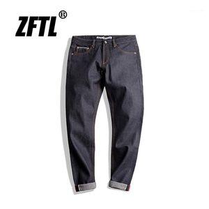 ZFTL Mens Jeans Vintage Jeans classico Slim Drity Fit uomo Jeans Indigo Selvedge Denim1