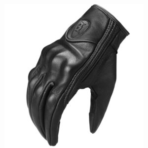 Luxury-Real Leather Motorcycle Protective Gears Waterproof Touch Function Motocross Gloves Guantes Moto Jnvierno