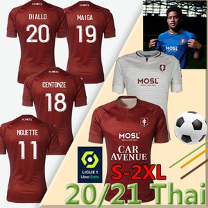 20 21 Metz Soccer Jerseys FC Diallo 20 Centonze 18 Vagner 27 Niane 7 Fofana 2020 2021 Jersey