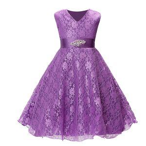 Fashion Kids Dresses For Girls Summer Kids Clothes Girl Dress Lace Sleeveless Children Girls Dress Wedding Party Dresses Z1127