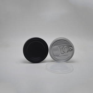 Hand Closed Strain Tin Can smart cans handed sealed smart bud jar for dry herb flower packaging Tuna Can Hoop Ring 30 J2