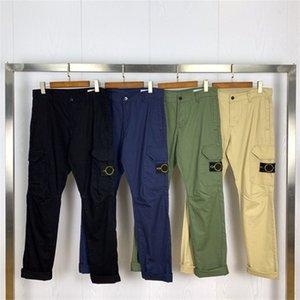 أعلى جودة البوصلة شارة التطريز البضائع السراويل الرجال النساء العسكرية مستقيم السراويل متعددة جيب عارضة القطن السراويل الرجال 201109