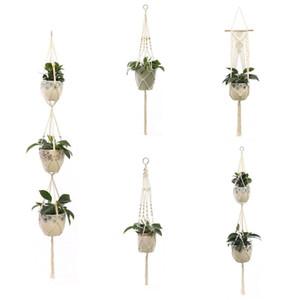 Çiçek Bitki Askı Halat El yapımı Pamuk Örme Kenevir Saksı Net Çanta Balkon Çiçekçi Çiçek Bitki Askı Dekorasyon