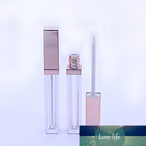 100 pcs 4ml rose gold lip gloss empty tube acrylic plastic clear square cosmetic lip gloss container with inner plug