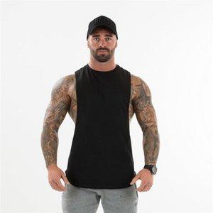 Gympxinran 2020 Männer Fitnessstudio Tank Top Bodybuilding Baumwolle Sleeveless Marke Fitness Weste Muskel Männliche Mode Freizeit Sling Unterhemd1