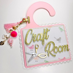KSCRAFT Craft Room Door Hanger Metal Cutting Dies Stencils for DIY Scrapbooking Decorative Embossing DIY Paper Cards Q1117