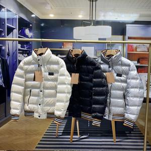 20ss Moda Aşağı Ceket Erkekler Hoodie Sıcak Beyaz Kaz Aşağı Dolu Üst Donanım Detaylar Mükemmel Manşet Çizgili Dekorasyon Kış Coat