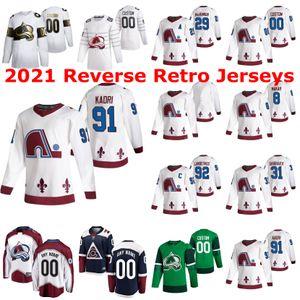 Colorado Avalanche 2021 Reverse Retro Jerseys 81 Vladislav Kamenev Jersey 13 Valeri Nichushkin Matt Nieto Colin Wilson Mark Barberio Custom