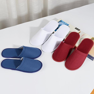 Hotel Travel Spa Spa Desechable Slippers Unisex Simple Slippers Men Women Home Guest Portable Indoor 2019