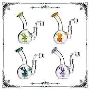 Diamantglas-Bongs DAB-Rigs-Öl-Rig-Becher-Bong-Glas-Bubbler-Waterpipes Mini-Bongs 6 Zoll mit Quarz Banger-Aufhänger Nagel