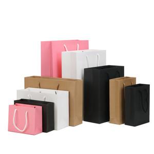 Sacs-cadeaux en papier, vêtements à emporter Packaging Shopping Kraft Paper Sacs, Impression personnalisée