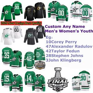 2020 Invierno Clásico Dallas Estrellas Jerseys Esa Lindell Jersey Dickinson Romano Polak Radek Faksa Khudobin Hockey Jerseys Custom Steinsted Green