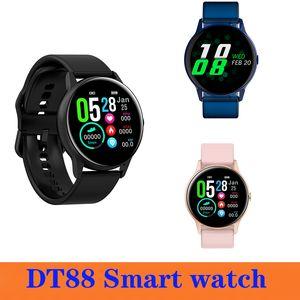Top selling DT88 Smart Watch Bracelet ScreenTouch Round Fashion Intelligent Rate Heart Smart Smartwatch Women Tracker Sports Men Watch