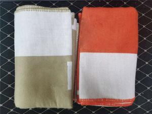 Nouvelle lettre Cachemire tricoté Couverture Crochet Crochet Plaid de laine pour la chaise Couch Chaise Love Siège Car Camping Couverture Chant De Châle Sans navire