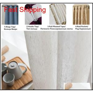 Modern Tulle Curtains Faux Cotton Linen Curtains For Kitchen European Pure Co jllEXg mxyard