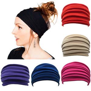 Fold Yoga Fandbands Donne Super Wide 12 * 24 cm colorato mamma capelli capelli gioielli moda moda solido colir vendita calda 3 3LLE M2