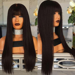 Human Hair Wigs 8-26 Inches Brazilian Remy Hair Lace Front Human Hair Wigs T Middle Part With Baby Wicca