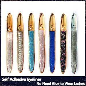 Eye-liner magique auto-adhésif pour faux cils Pas besoin de colle pour porter des cils Liquide Eye-liner fort Eyelin-cils auto-adhésifs fort