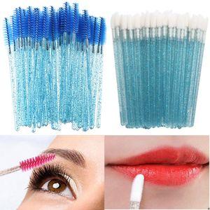 100pcs Crystal Mascara Wands Applicator Eyelash Brush Disposable Lip Brushes Cosmetic Makeup brushes Tools Set High Quality