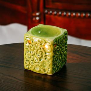 Retro Crack Glaze Ceramic Essential Oil Lamps Aroma Burner for Home Dinner Decor Aromatherapy Smell Removing Censer