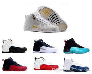 Stylish 12 12s XII Basketball shoes man ovo white TAXI Flu Game GS Barons Playoffs gym French blue Varsity red Sneakers