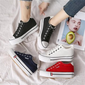 Women Hidden Heel Platform Wedge Canvas Shoes Outdoor Breathable Trainers Female Sneakers Woman Casual Shoes 201105 2021