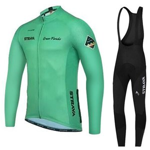 2019 STRAVA Team Bike Cycling Jersey Set Ropa Ciclismo Tour de France Men Bicycle Shirt Bib Pants suit Racing clothing Y032908